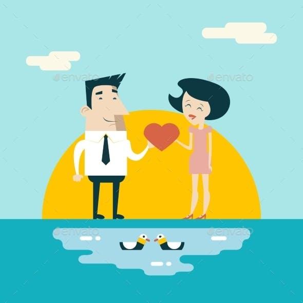 Male and Female Valentine