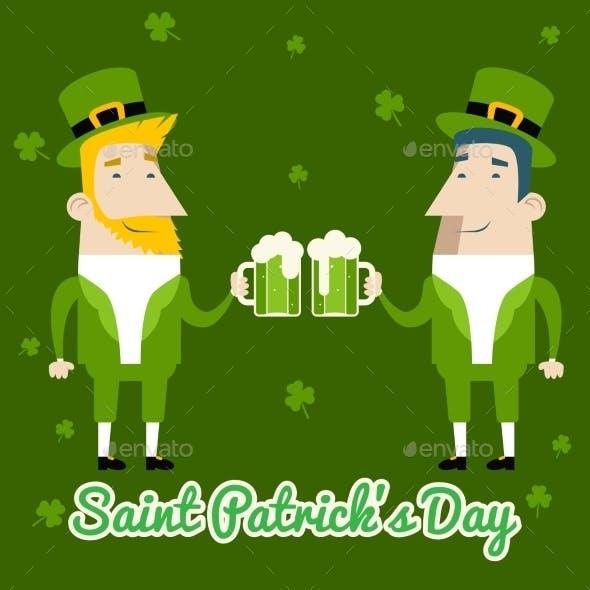 Saint Patrick's Day Celebration Cartoon
