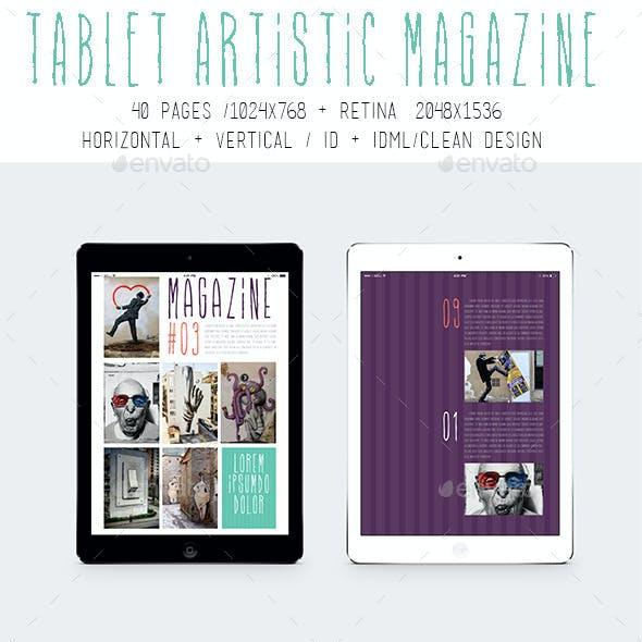 Ipad & Tablet Artistic Magazine