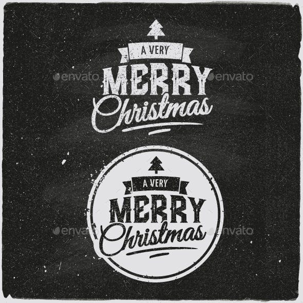Christmas Typographic Design Emblem