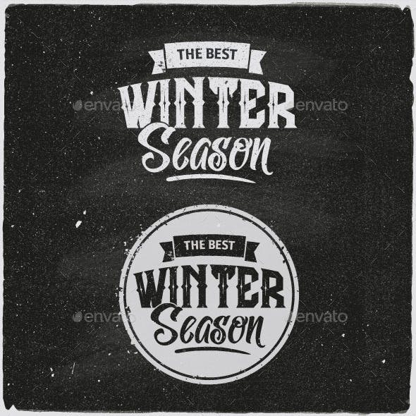 Winter Typographic Design Emblem