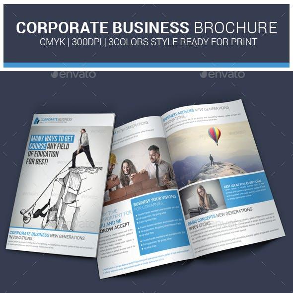 Corporate Business Bi-Fold Brochures