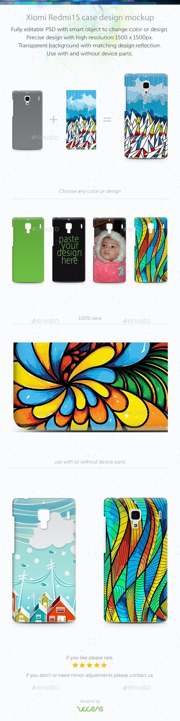 Xiaomi RedMi 1/1S Case Design Mockup