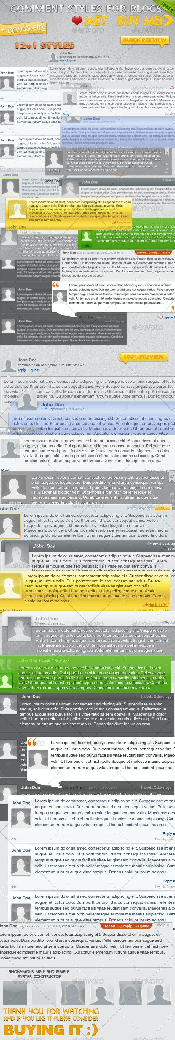 Comment Styles for Your Blog (part 2) - Web Elements