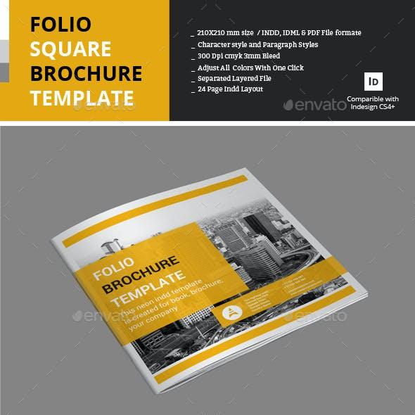 Folio Square Brochure Template