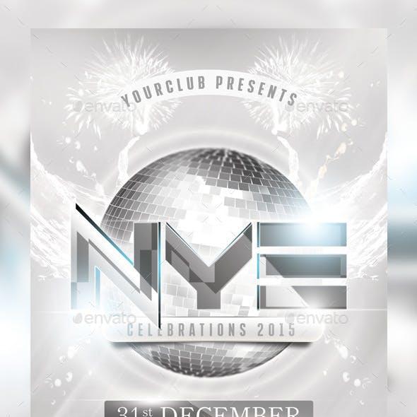 NYE White Party Flyer