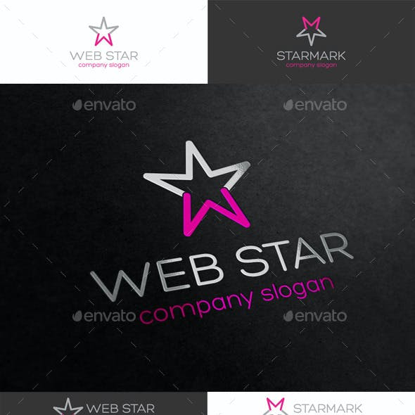 Web Star Logo Template
