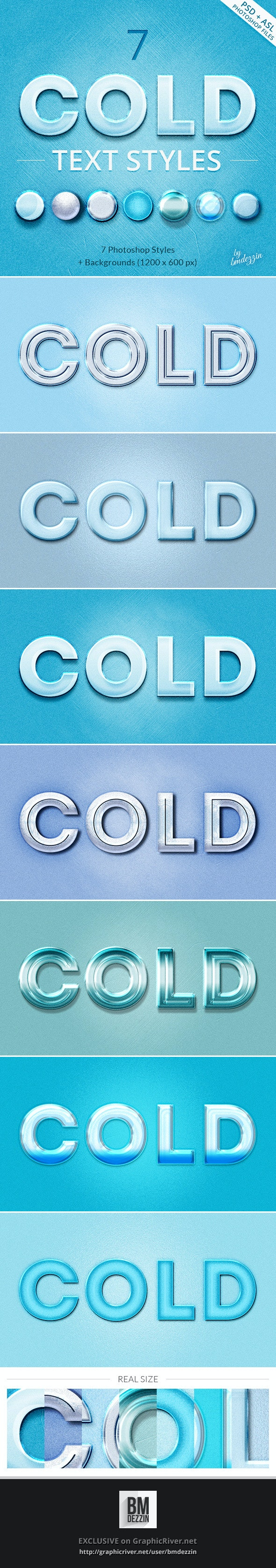 Cold Text Styles - Text Effects Styles