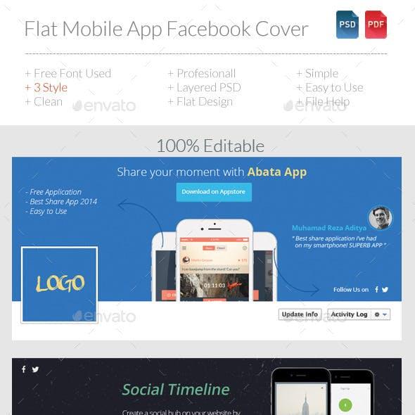 Flat Mobile App Facebook Timeline