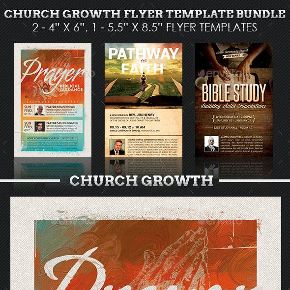 Church Growth Flyer Template Bundle