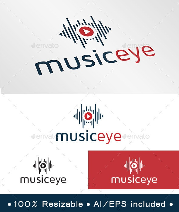 Music Eye Logo - Symbols Logo Templates