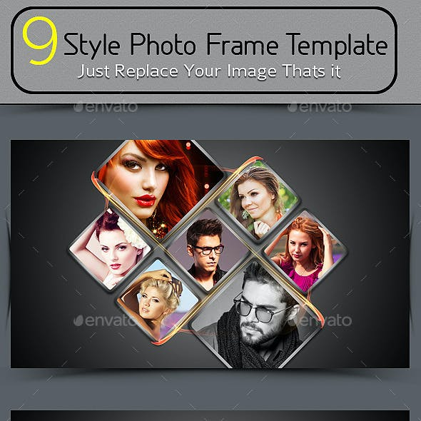 9 Style Photo Frame Template