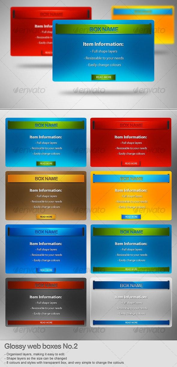 Glossy Web Boxes No.2 - Web Elements