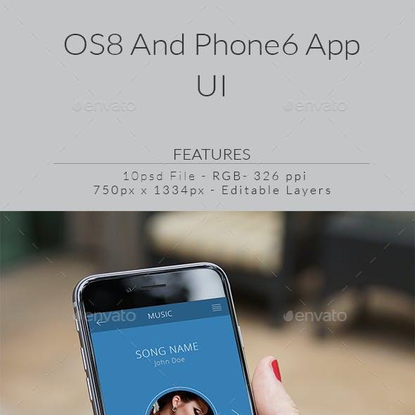OS8 And Phone6 App UI