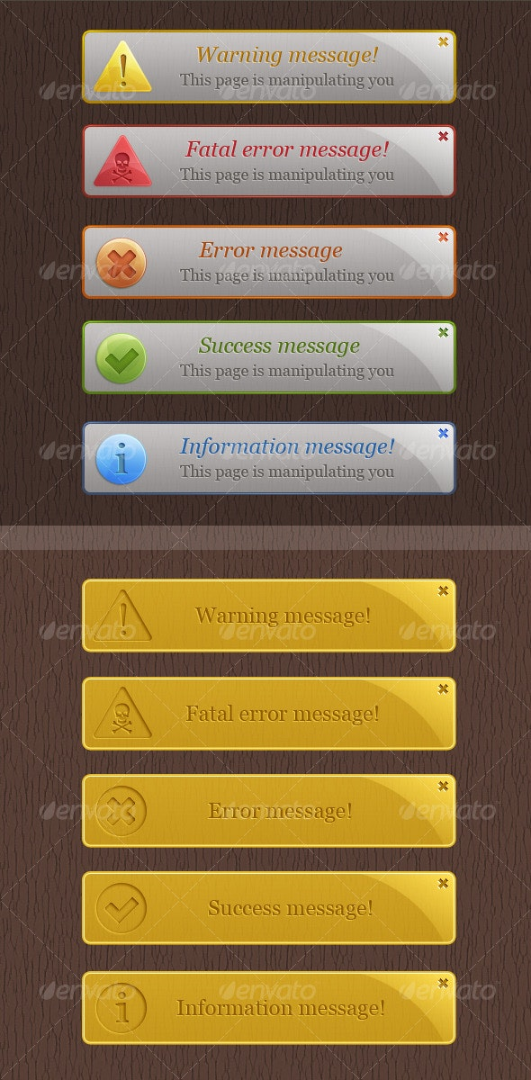 Warning Box - Web Elements