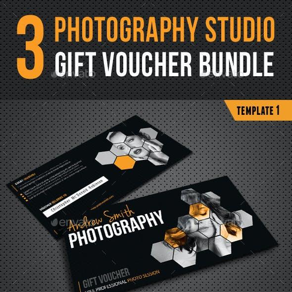 3 in 1 Photography Studio Gift Voucher Bundle