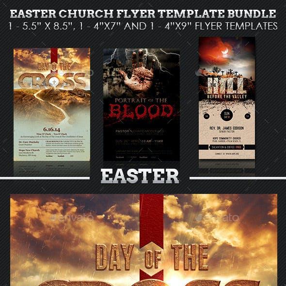 Easter Church Flyer Template Bundle