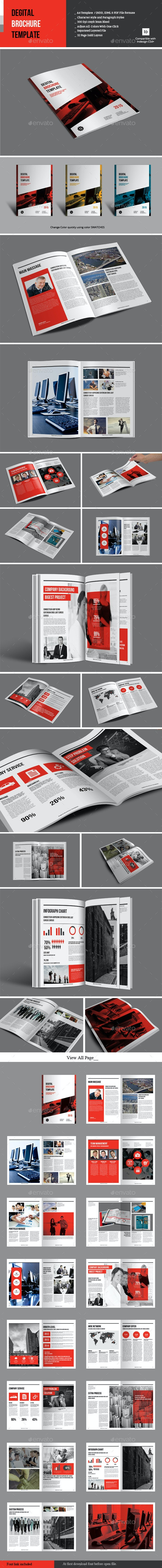 Degital Brochure Template - Corporate Brochures