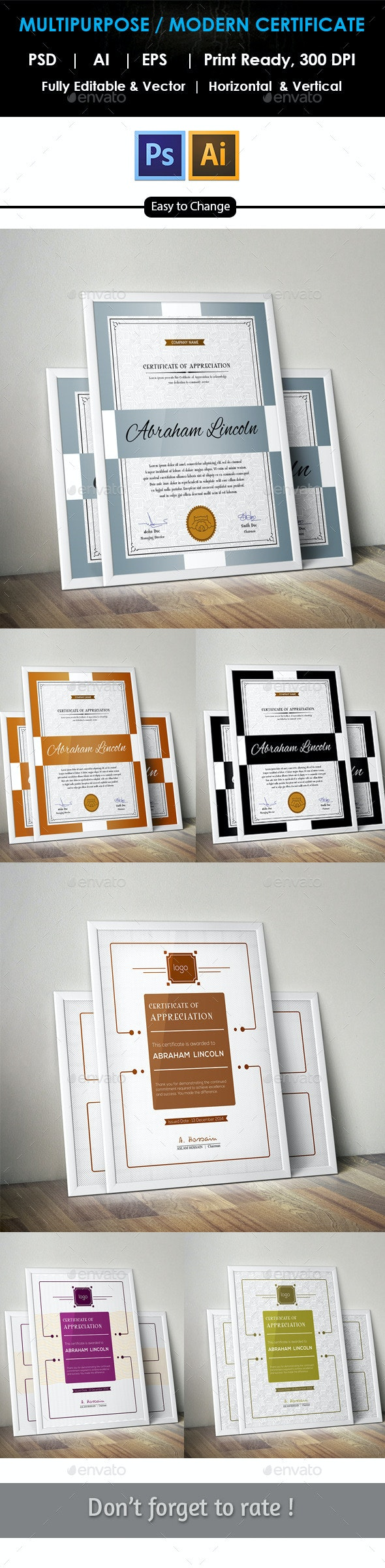 Multipurpose Certificates Bundle GD02 - Certificates Stationery