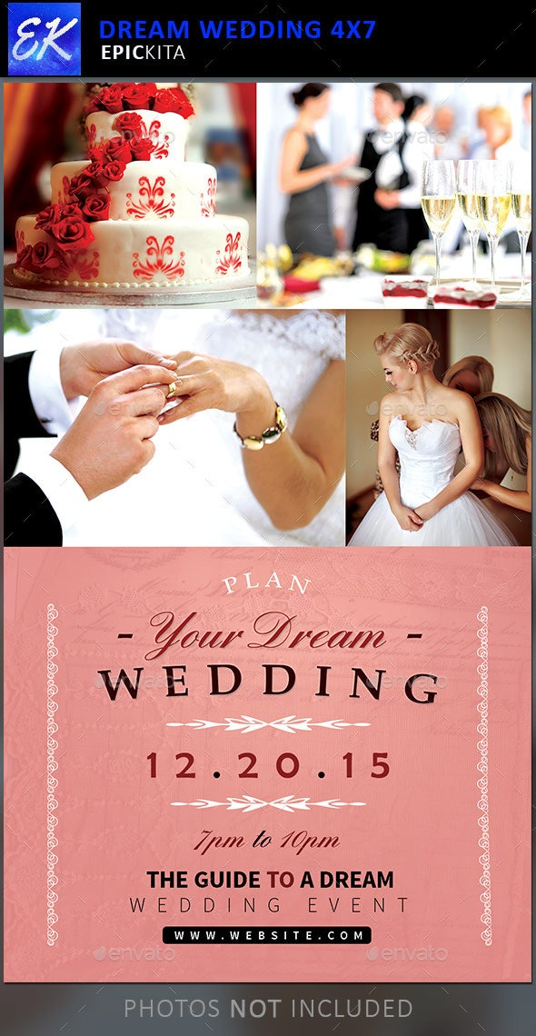 Dream Wedding Event Flyer Template - Events Flyers