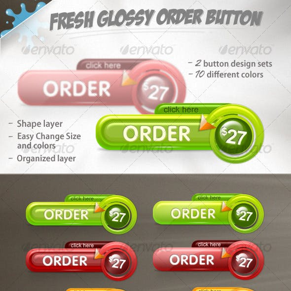 Fresh Glossy Order Buttons