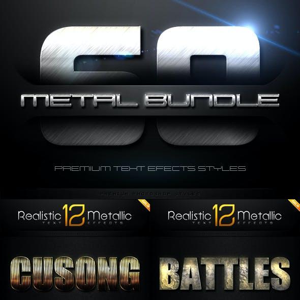 60 Metal Text Effects Bundle