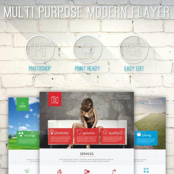 Multi Purpose Modern Flayer