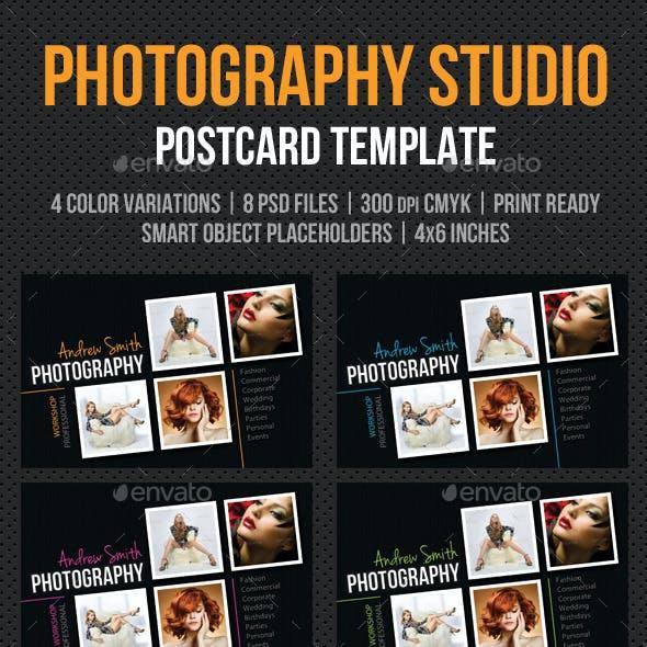 Photography Studio Postcard Template V02