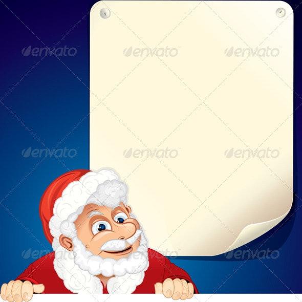 Cartoon Santa Claus - Characters Vectors