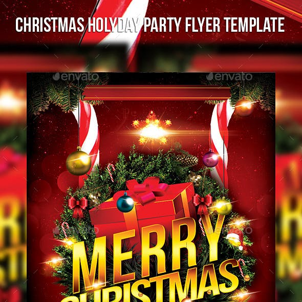 Christmas Holiday Party Flyer Template