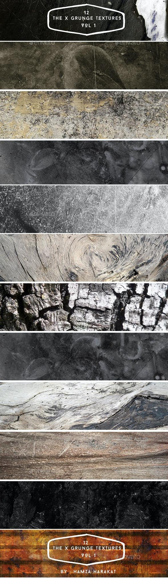 12 The X Grunge Textures VOL 1 - Industrial / Grunge Textures
