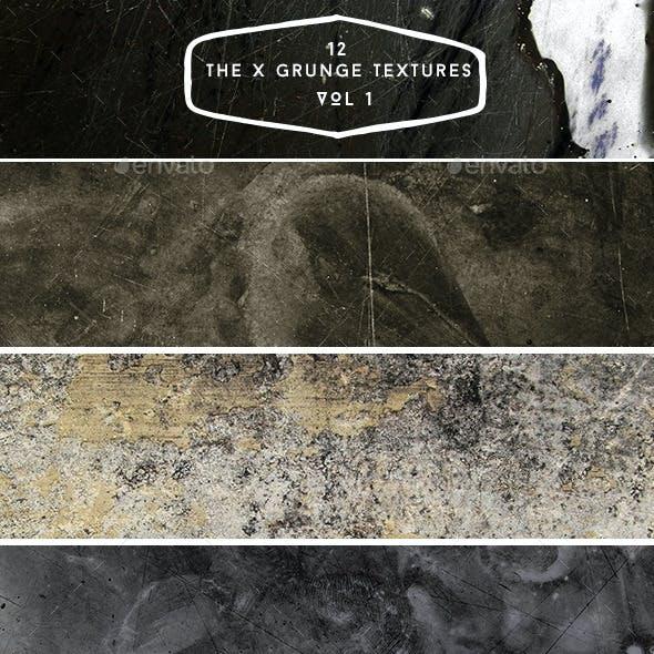 12 The X Grunge Textures VOL 1