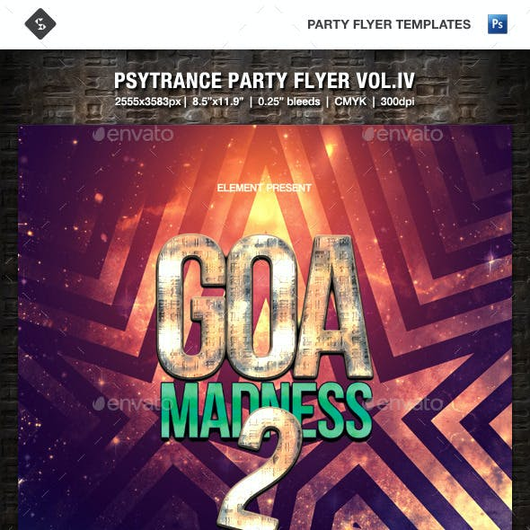 Psytrance Party Flyer Vol.4 - Goa Madness 2