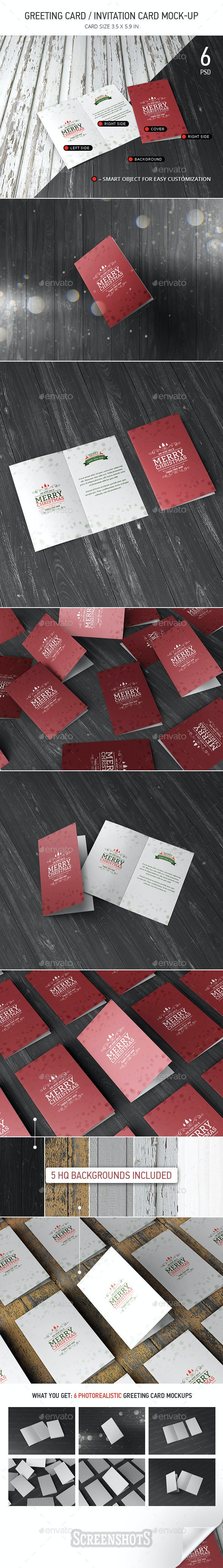 Greeting / Invitation Card Mock-Up  - Miscellaneous Print