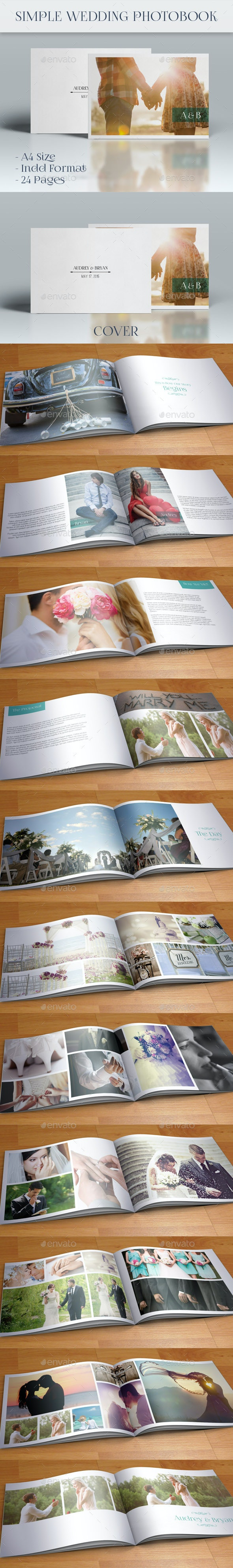 Simple Wedding Photobook - Photo Albums Print Templates