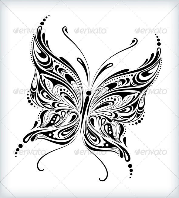 Abstract butterfly design - Flourishes / Swirls Decorative