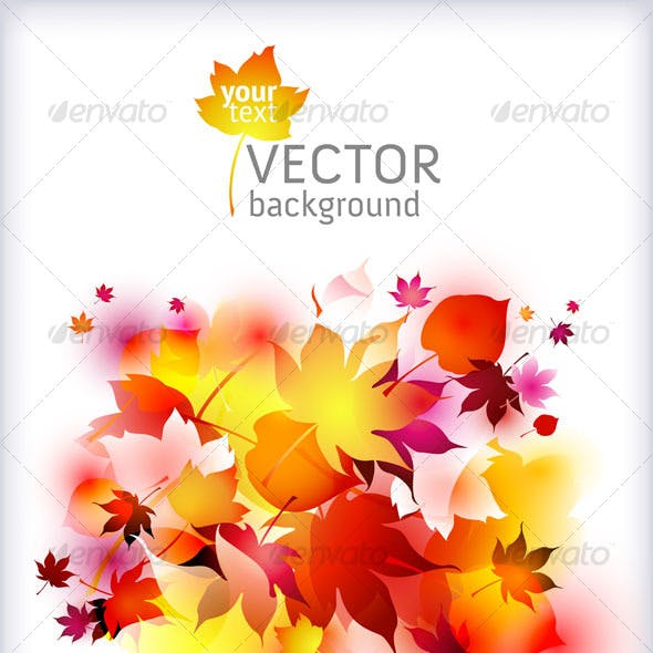 Autumn background - vector abstract