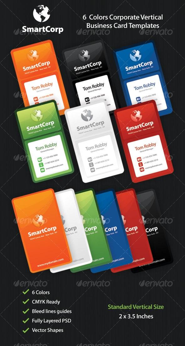 SmartCorp 6 Corporate Business Card Templates - Creative Business Cards