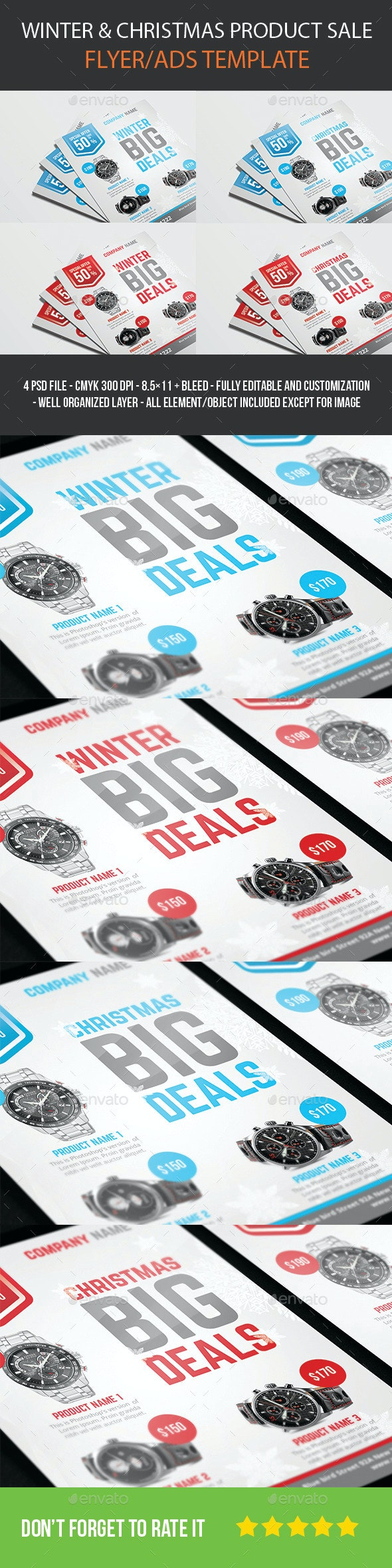 winter/christmas product sale flyer - Commerce Flyers