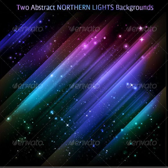 Abstract backgrounds - vector Northern lights