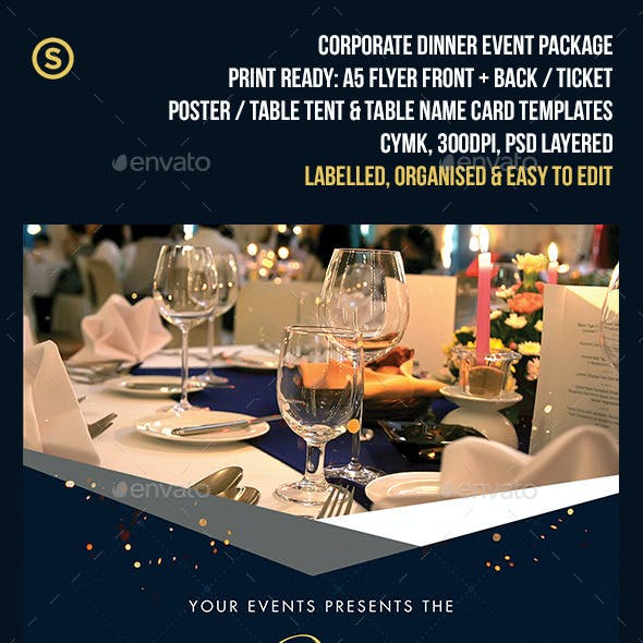 Corporate Gala Dinner Event Pack