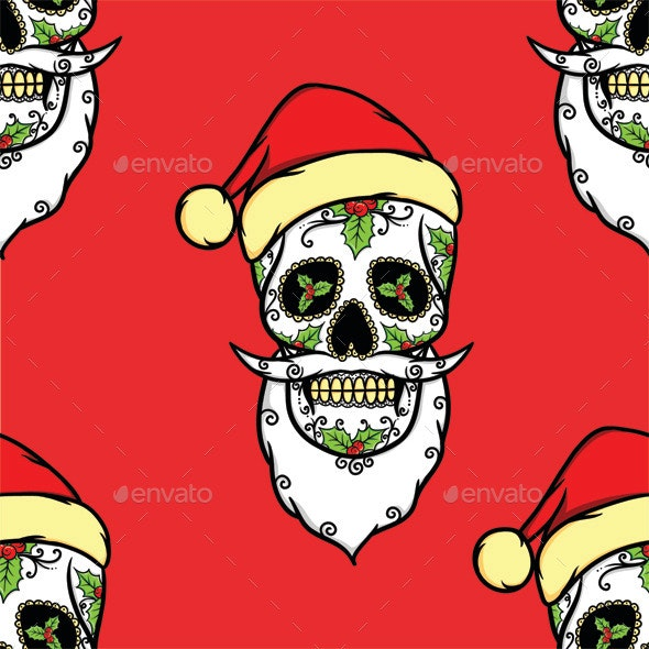 Christmas Skull Pattern - Christmas Seasons/Holidays