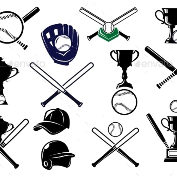 Baseball Equipments Set