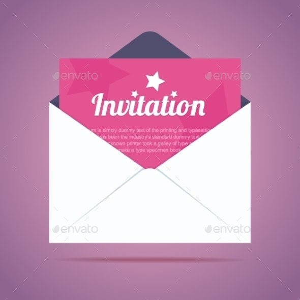 Envelope with Invitation - Miscellaneous Vectors