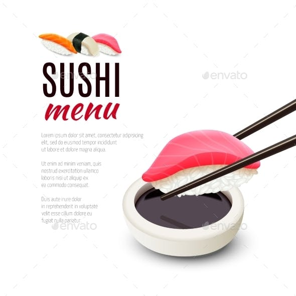 Sushi Menu Background