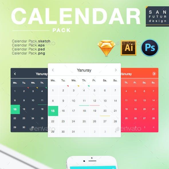 Calendar Pack (Flat,Gradient)