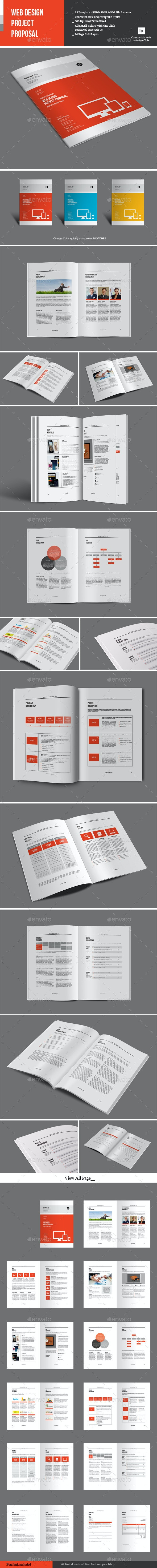 Web Design Project Proposal - Proposals & Invoices Stationery