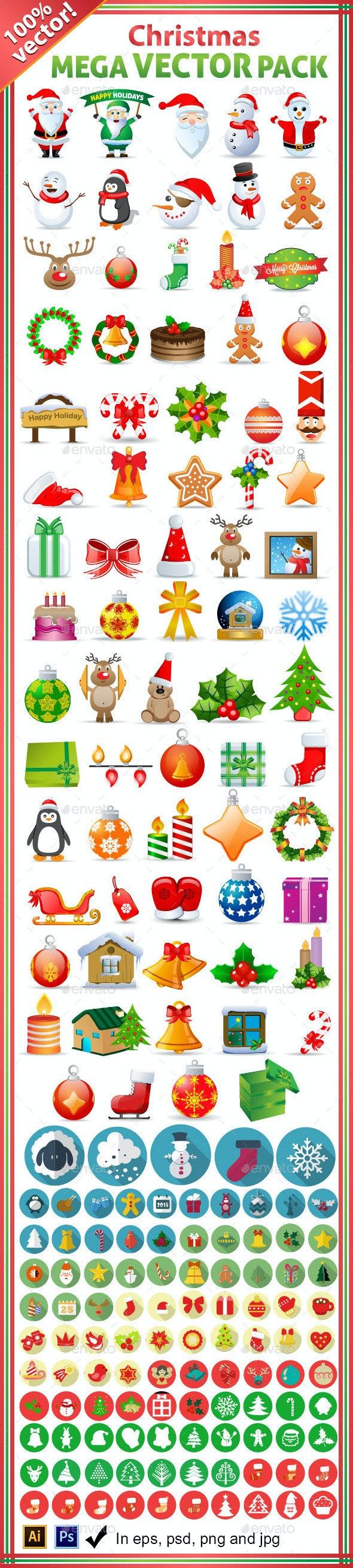 Christmas Mega Stock Vector Graphics Pack - Christmas Seasons/Holidays