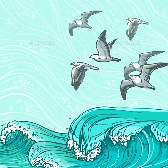 Sea Waves Background - Nature Conceptual