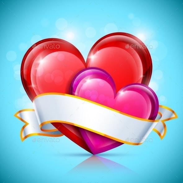 Glossy Heart Icons - Valentines Seasons/Holidays